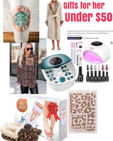 Gifts for her under $50  @liketoknow.it.home @liketoknow.it.family #LTKgiftspo #LTKhome #LTKunder50 http://liketk.it/31FeC #liketkit @liketoknow.it       Gifts for her Pedi at home Barefoot dreams dupe Slippers Teen gifts Gifts her teens Gift guide for her Christmas gifts  Christmas gift ideas