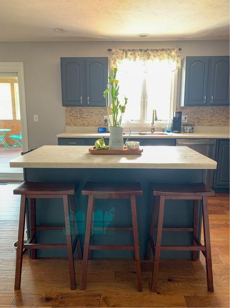 Kitchen island bar stools and centerpiece  #LTKhome #LTKunder100 #LTKunder50