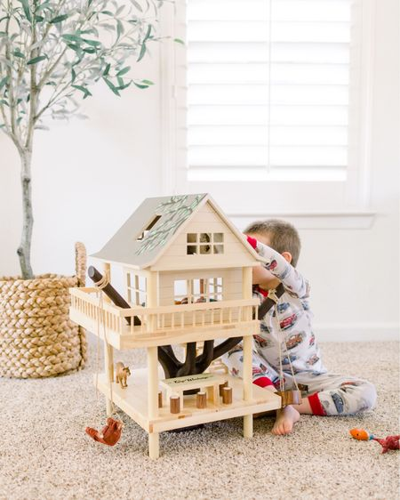 We love watching H play independently with his treehouse. It's just the cutest to watch him use his imagination and play pretend. He's very into Tarzan lately. http://liketk.it/2VMuu #liketkit @liketoknow.it
