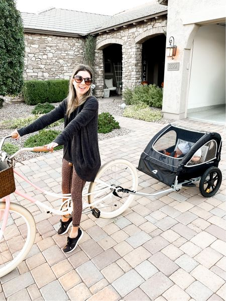 Double or single bike trailer (we have the double) !! So much for family time out!!