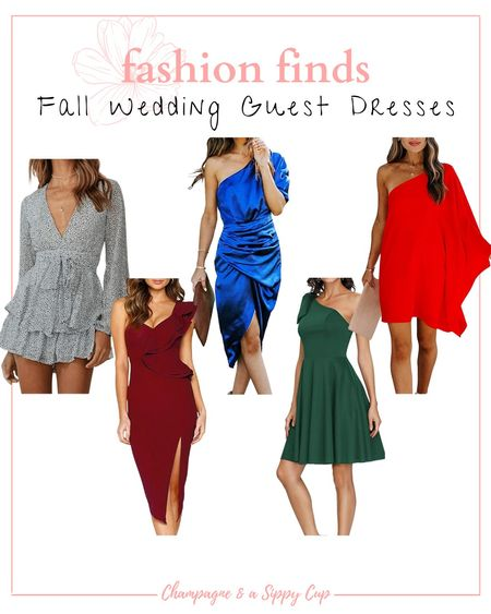 fall wedding guest dress options // wedding guest dresses, fall fashion, occasion dresses from Amazon