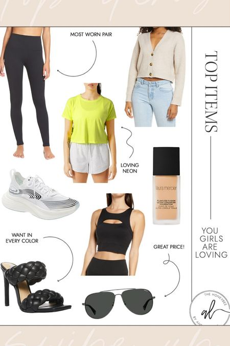 Activewear, cute sandals, sneakers and my holy grail foundation all made the top sellers this week!  #LTKfit #LTKunder50 #LTKunder100