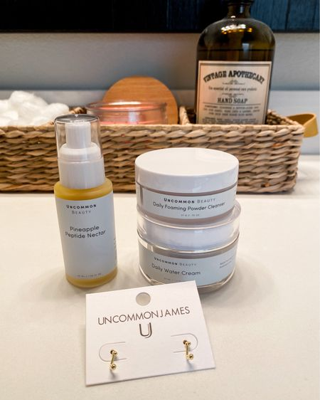 I have been waiting for this line to come out and I'm so excited it's here! I can't speak to the results just yet but I can tell you how it feels on my skin... SO GOOD. And who would I be if I didn't add a cute pair of earrings to the order?! 😉 http://liketk.it/3fy5N #liketkit @liketoknow.it #LTKbeauty