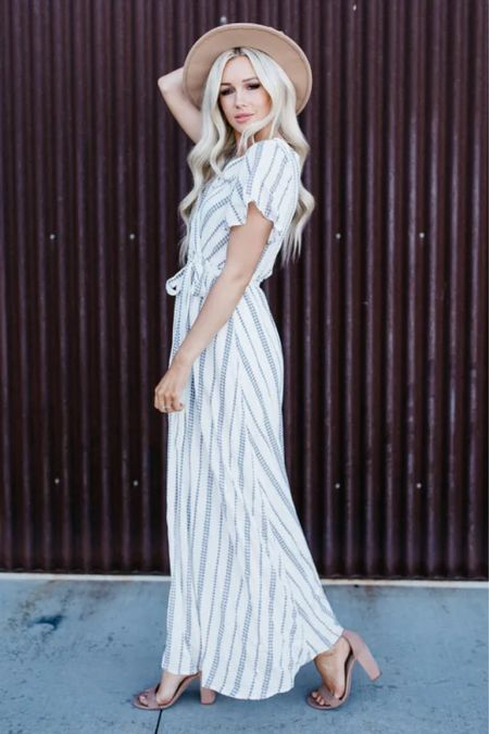This is the perfect dress to wear to church and then to the beach after! It's feminine and flirty and yet modest! It's flowy and it's on sale! I need this dress in every color for my vacation this month!   #LTKtravel #LTKsalealert #LTKSeasonal