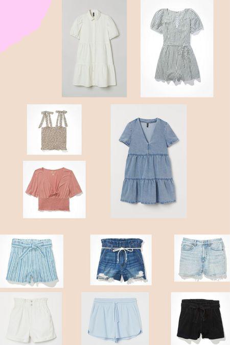 SUMMER PICKS! loving all these summer pieces! http://liketk.it/3d4h4 #liketkit @liketoknow.it  #summer #summerfashion #sweatshorts #shorts #momshorts #dress #romper #h&m #americaneagle
