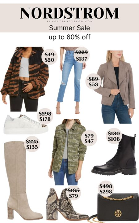 Nordstrom Summer Sale up to 60% off camo jacket camo pattern jacket combat boots for women winter boots fall booties tory burch bag high knee boots P448 sneakers moto jacket http://liketk.it/3nqJl @liketoknow.it #liketkit #LTKunder100 #LTKunder50 #LTKsalealert