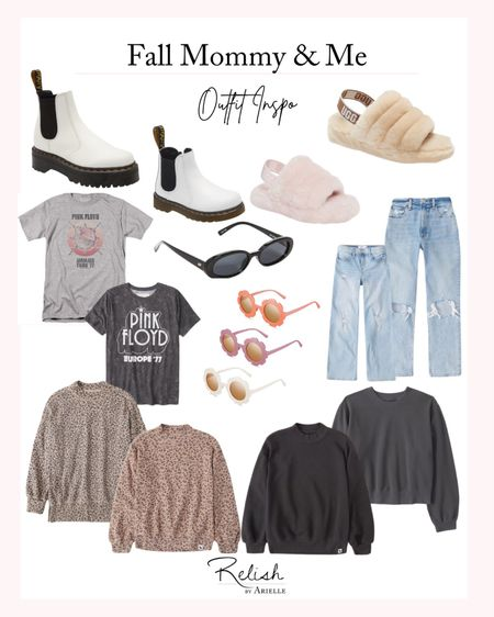 Fall Mommy and Me Outfit Inspiration - Mom/Daughter Sweaters, Matching shoes, matching sweaters   #LTKfamily #LTKSeasonal #LTKkids
