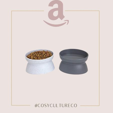 These cat food bowls are to die for!! Super modern and sleek   #amazoncanada   #LTKhome #LTKfamily #LTKunder50