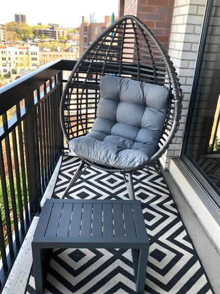 Our Patio set arrived! The exact wicker egg chair seems to be sold out though but the cushion is really comfortable.  @liketoknow.it http://liketk.it/2OoOI #liketkit #StayHomeWithLTK #LTKhome
