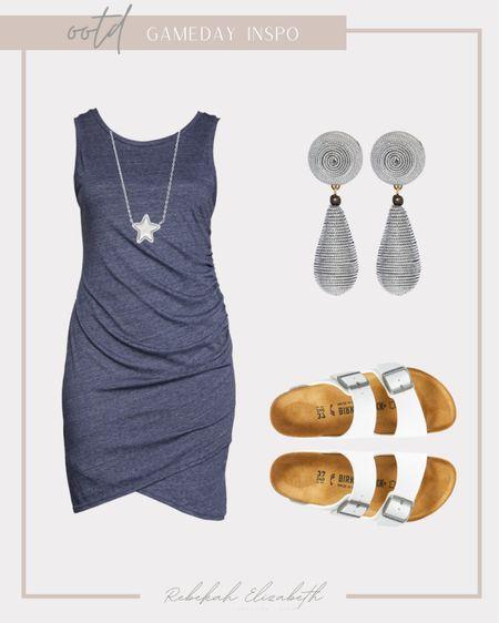 Plus size blue and white gameday inspo 💙🤍 #rebekahelizstyle  #LTKstyletip #LTKunder50 #LTKcurves