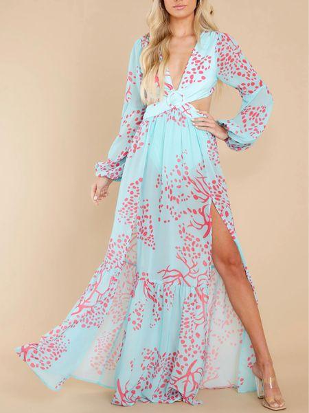 Turquoise cutout maxi dress   #LTKstyletip #LTKunder100