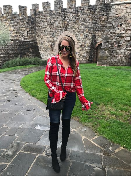 Last hours to snag fab sale items like this plaid top that comes in 5 colors & is only $32, or these jeans that are less than $60! Don't miss out, it's the sale of the century & ends at midnight! Shop this outfit with the @liketoknow.it & search my insta name! http://liketk.it/2wR1D #liketkit #LTKunder50 #LTKsalealert #LTKshoecrush #LTKitbag #LTKstyletip #nsale