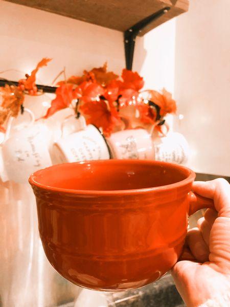 Orange mugs are perfect for fall   #LTKhome #LTKstyletip #LTKSeasonal