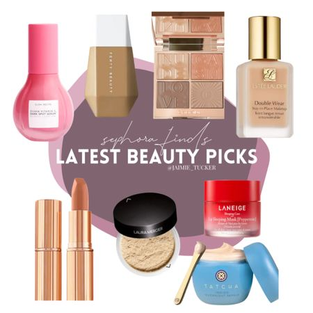 My makeup picks and finds from Sephora. They're the perfect basic items to have when doing your makeup! | #makeup #womensmakeup #bestsellers #skincare #makeup #popularmakeupproducts #fullcoverage #makeupfoundation #eyeshadowpalettes #skinserum #JaimieTucker   #LTKSale #LTKbeauty #LTKGiftGuide