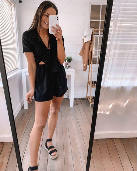 Amazon romper - wearing a s Amazon espadrille wedges - true to size  Amazon summer outfits amazon spring outfits amazon romper amazon vacation outfits amazon shoes #LTKswim #LTKstyletip #LTKshoecrush http://liketk.it/3axrH #liketkit @liketoknow.it