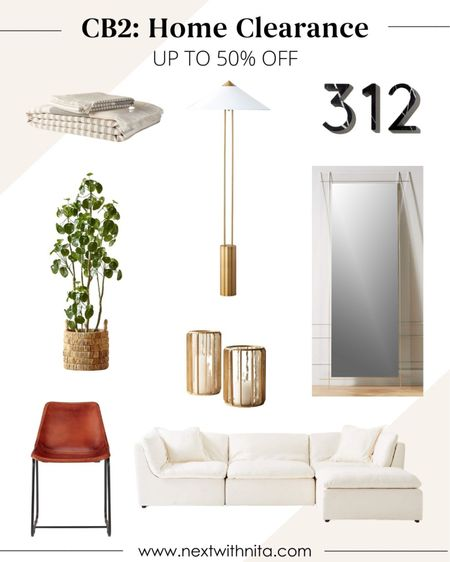 Cb2 home furniture and home decor on clearance up to 50% off! Great for modern home decor, cozy home, simplistic home.   #LTKhome #LTKstyletip #LTKsalealert