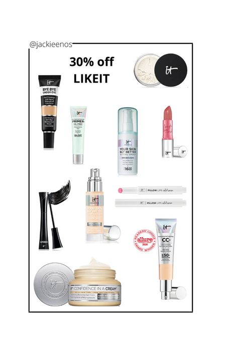 IT Cosmetics sale LTKDAY 30% off code LIKEIT http://liketk.it/3hksN #liketkit @liketoknow.it #LTKDay #LTKbeauty #LTKsalealert
