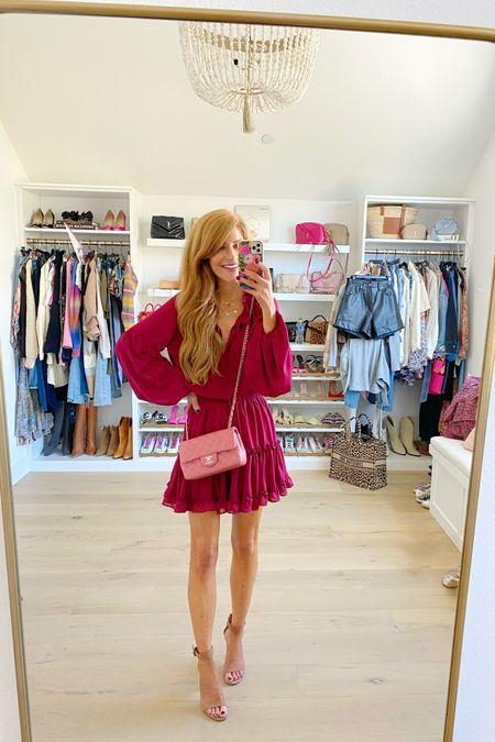 25% off this burgundy long sleeve dress Wearing xs  #LTKsalealert #LTKSale #LTKSeasonal