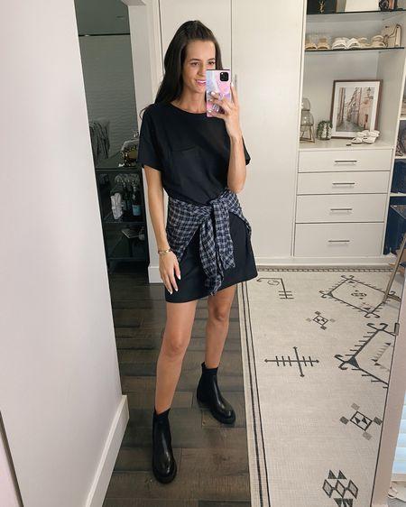 Nordstrom Anniversary sale. Dress fits quite large @liketoknow.it #liketkit   http://liketk.it/3jFnK , #LTKshoecrush #LTKsalealert #LTKunder100 nsale, jeans, free people, dress, T-shirt dress, black boots