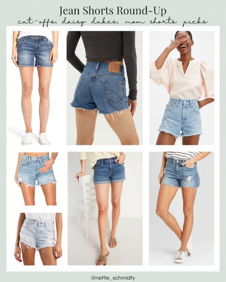 Best Jean shorts roundup 🖤 From high waisted cutoffs to longer Jean shorts, whitewashed or ripped, jeans shorts are the perfect summer outfit staple. Working on the farm outfit, heading to the lake outfit, or just any casual outfit. Levi's .  You can instantly shop my looks by following me on the LIKEtoKNOW.it shopping app http://liketk.it/3hfco #liketkit @liketoknow.it #LTKDay #LTKunder100 #LTKstyletip