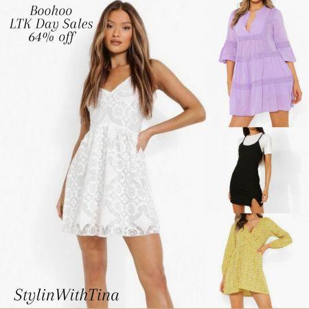 Boohoo dresses, white dress, baby doll dress. Ltkday sale finds. http://liketk.it/3hjhM #LTKsalealert #LTKstyletip #LTKunder50 #LTKunder100 #LTKcurves #LTKfit #LTKtravel #LTKbeauty #LTKDay @liketoknow.it #liketkit