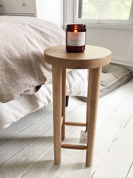 target finds natural wood end accent table, small bathroom decor stool http://liketk.it/3gYSB #liketkit @liketoknow.it #LTKhome #LTKunder50 #LTKDay