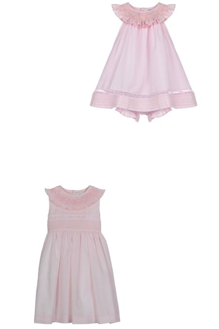 Hunted for the Luli & Me dress Georgie was wearing on the plane. These are by the same brand, same color, same lace inset. But have additional smocking around the neckline! So pretty. @liketoknow.it http://liketk.it/3gFed #liketkit #LTKbaby #LTKfamily #LTKkids