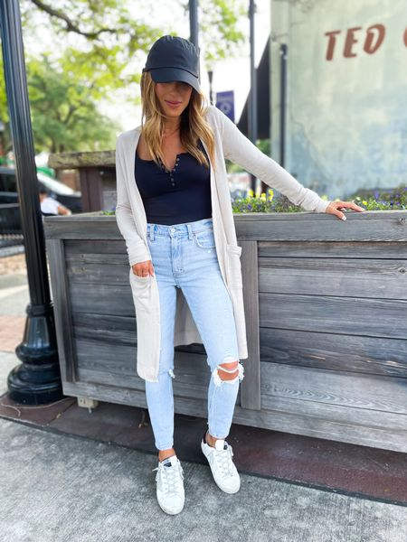 Jeans size 24 short, cardigan size Xs   #LTKsalealert #LTKunder50 #LTKunder100