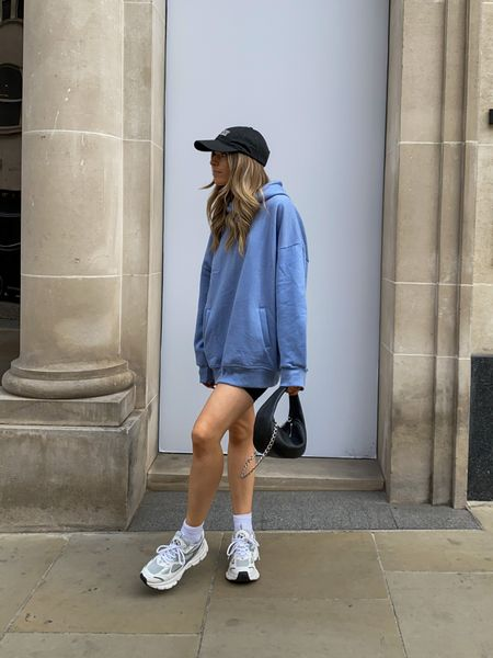 Oversized hoodies are always perfect for this time of year as you can style them in so many ways! I've styled this Missguided one with a pair of cycling shorts for a sporty look! Then finished the outfit off with a pair of axel arigarto marathon sneakers and a ganni cap     #LTKeurope #LTKstyletip