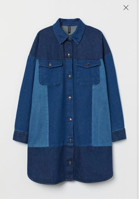 I love this patchwork denim dress for fall! This would be so chic with a pair of knee-high boots!