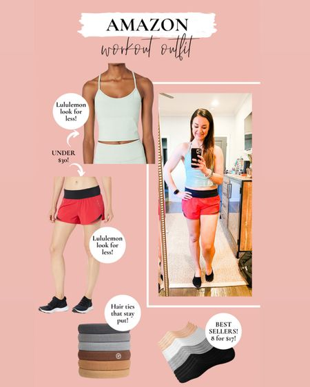 Athletic spring outfit // lululemon look for less // lululemon look a like shorts // lululemon look a like tank // workout tank // athletic outfit // top & shorts fit TTS, wearing size small    http://liketk.it/3cqGB #liketkit @liketoknow.it #LTKSpringSale #LTKunder50 #LTKsalealert