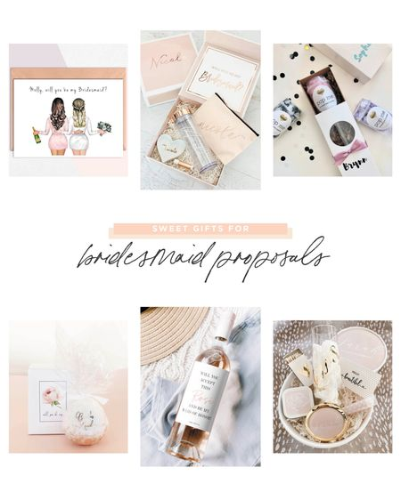 Ask your bridesmaids for their hand in helping you get hitched with these sweet gifts!  #LTKunder50 #LTKbeauty #LTKwedding