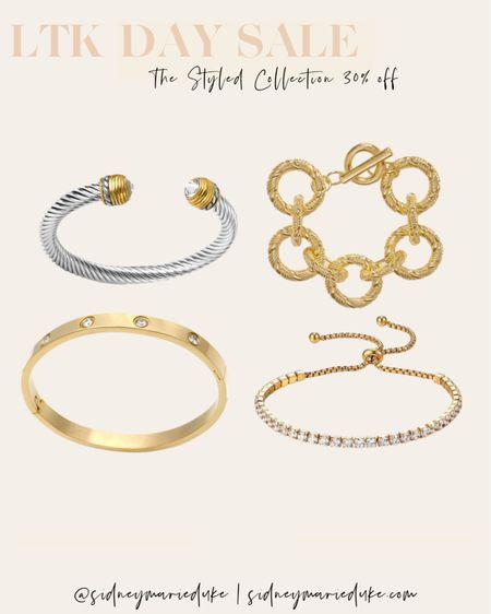 The Styled Collection LTK day sale Gold bracelets Silver jewelry bangles  Cuffs David Herman inspired  Charm bracelets   http://liketk.it/3hjrP @liketoknow.it #liketkit #LTKDay #LTKunder50 #LTKsalealert