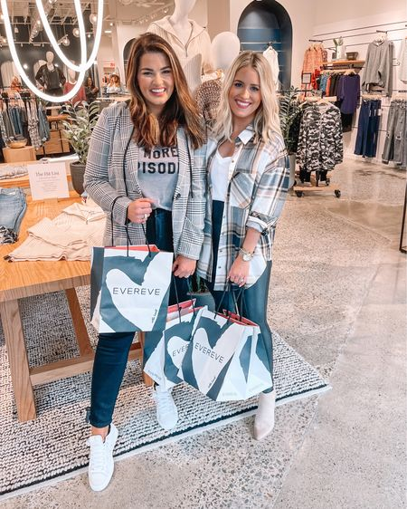 Moms day out! 🛍 Baby-free girls day was just what I needed — @nataliekennedyblog & I had so much fun at @evereveofficial 🙌🏻 We found such cute looks for fall!   #LTKstyletip #LTKshoecrush #LTKunder100
