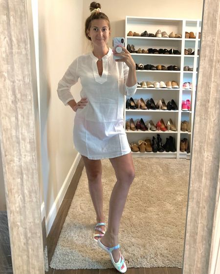 This tunic makes for the  perfect coverup - especially in white! 😎 It's lightweight, breathable and oh so comfy! Comes in 3 colors + currently on sale + an EXTRA 50% off!  I'm wearing a medium. If you're in between sizes size up. http://liketk.it/3k2RC #liketkit @liketoknow.it   #LTKsalealert #LTKswim #LTKunder50