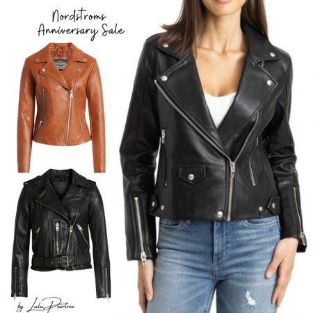 Leather Jackets picks from the Nordstrom Anniversary Sale. Now is a good time to invest  in a leather piece for Fall if you have been on the look out for one. Good price for quality http://liketk.it/3jGxO #liketkit #Nsale @liketoknow.it #LTKunder100 #LTKstyletip Shop my daily looks and styling picks by following me on the LIKEtoKNOW.it shopping app #LTKseasonal #LTKfall #fallstaples