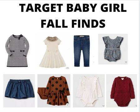 Target baby girl fall wardrobe finds. #target #targetstyle #fall #babygirl    #LTKbaby #LTKfamily #LTKunder50