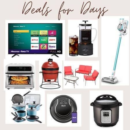 Walmart deals, deals for days, kitchen appliances, cordless vacuum, roomba vac, bbq grills, flatscreen tvs,, cold brew coffee, coffee makers, home, walmart finds, walmart home http://liketk.it/3ijtg @liketoknow.it #liketkit #LTKSeasonal #LTKVDay #LTKsalealert #LTKstyletip #LTKunder100 #LTKunder50 #LTKfit #LTKfamily #LTKcurves #LTKtravel #LTKwedding #LTKbump #LTKbeauty #LTKmens #LTKhome #LTKworkwear