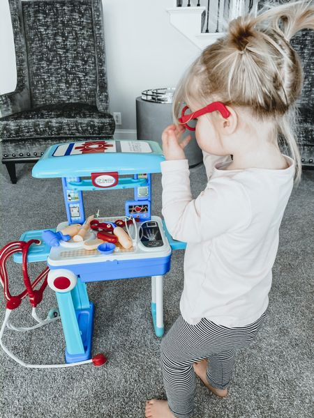 I had a few people ask me what doctor kit I unfolded on my Snapchat that Charlotte was playing with— she got it for Christmas and plays with it almost daily! Such a good buy. Also linked our favorite personalized scrubs, she has 2 pairs and loves to match her daddy!👩🏼⚕️♥️ http://liketk.it/2MgWU #liketkit @liketoknow.it #StayHomeWithLTK #LTKbaby #LTKfamily @liketoknow.it.home @liketoknow.it.family
