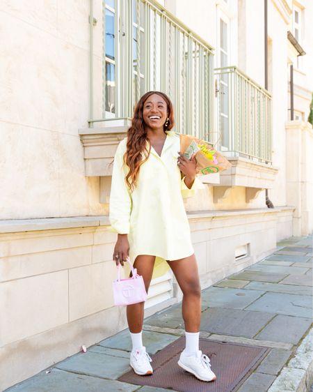 Oversized dress shirt in yellow, summertime pastel looks in Charleston http://liketk.it/3gDIf #liketkit @liketoknow.it #LTKunder100 #LTKstyletip