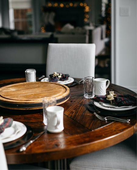 Christmas table setting / Christmas plates   #LTKHoliday #LTKhome #LTKunder100