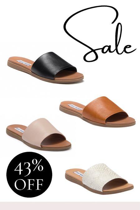 Sale alert! Shop these beautiful slip on mule style sandals from Steve Madden. Before shoe for fall!   #LTKshoecrush #LTKsalealert #LTKunder50