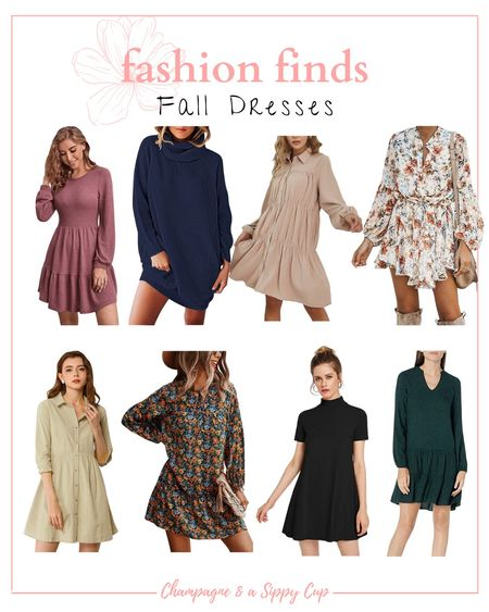 Fall dresses from Amazon / casual fall dresses under $50