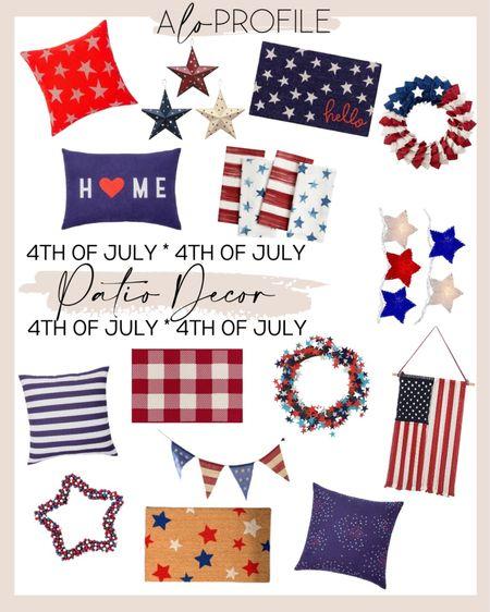 4th of July Patio Decor  Home decor, holiday decor, outdoor decor, outdoor pillows   #LTKhome
