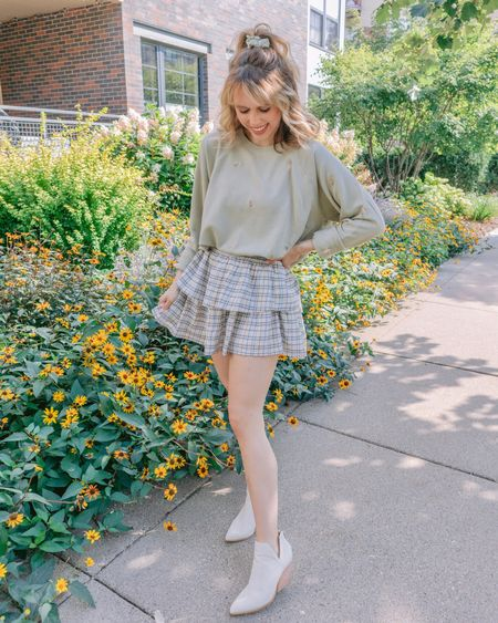 When the whole 'fit is on sale 💃🏼 This embroidered pullover is less than $20, and the skirt is 25% off! Hope everyone is having the loveliest long weekend 🌻 . . .   #LTKSeasonal #LTKunder50 #LTKsalealert