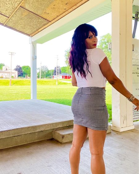 Back to school outfit - pleated mini skirt and white crop top 🛍  #LTKshoecrush #LTKsalealert #LTKstyletip
