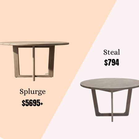 RH dining table dupes!    Shop your screenshot of this pic with the LIKEtoKNOW.it shopping app  📲 http://liketk.it/3fl1O #liketkit @liketoknow.it #LTKhome #LTKstyletip @liketoknow.it.home