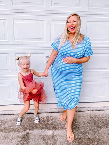 I want to be Daisy when I grow up.   Wearing a large in my dress and Daisy's dress runs a little large. Both so soft and comfy!     #LTKbump #LTKfamily #LTKkids