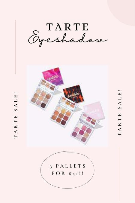 "TARTE SALE!! 3 great palettes for $51! (regular $64) $350 value!! such a great deal! My favourite is ""Tartlette lil' bloom"" http://liketk.it/3cu7V #liketkit @liketoknow.it #tarte #tartesale #makeup #palettes #sale #eyeshadow"