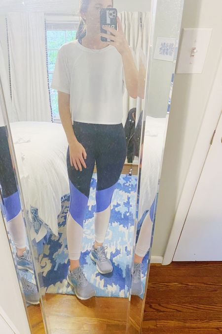 After over a week off, I finally made it back to true40 for a great workout! Coincidentally both my top and leggings are from fabletics and worth sharing with y'all. I pretty much only wear darker colored leggings to workout classes so that there's no sweat showing, but this blue on blue pair is a fun way to mix things up from a typical black pair. I also snagged this fabletics white cropped workout top that has a fun open back. My sports bra is an amazon find and my other workout wear is linked for y'all on the @liketoknow.it app! #liketkit #LTKfit #LTKunder50 #LTKunder100 http://liketk.it/2ZTf1